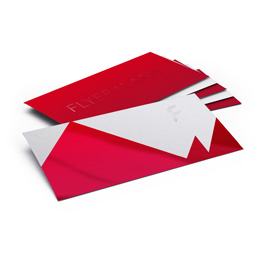 Envelopes with partial UV varnish, without a window