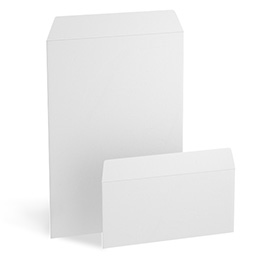 Envelopes blank without window, peal and seal