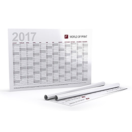 Annual planners (single sided print)