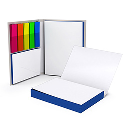 Sticky notes with coloured edges