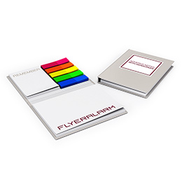 Adhesive notes with hardcover