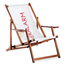 Deck chair with armrest, incl. print