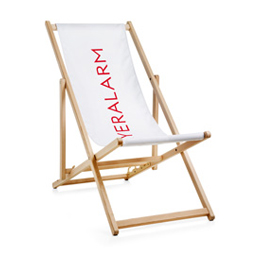 Deck chairs without armrest, chair mechanism incl. print