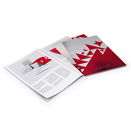 Brochures with staple binding and premium materials