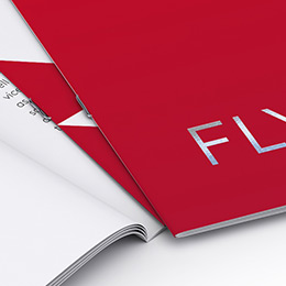 Brochures with staple binding (premium finishes)