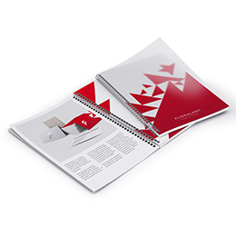 Brochures with protecting polypropylene cover