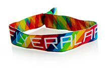 Event wristbands fabric, woven