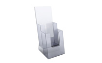 Brochure display stand for DL/A6, 2 pockets