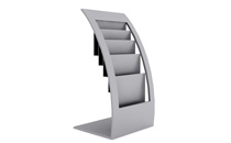 Brochure display stands, metal, desk model