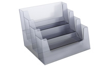 Business card holder horizontal, 4 compartments