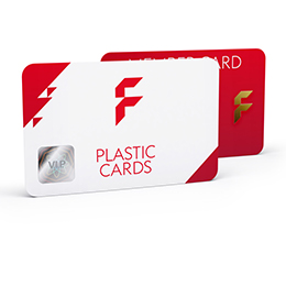 Plastic cards with exclusive finishing