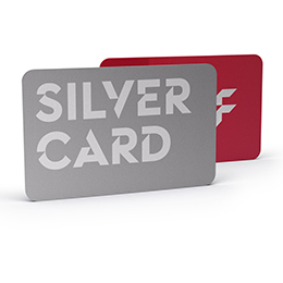 Plastic cards, silver