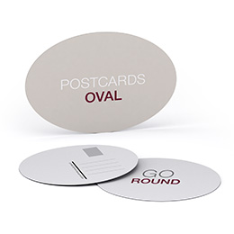 Postcards, round/oval