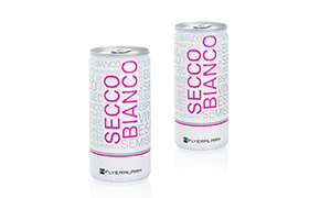 Private label drinks: Secco Bianco - product samples