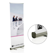 Roll-Up Banner Basic systeem incl. druk