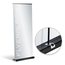 Roll-Up Banner Black, systeem incl. druk
