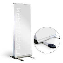 Roll-Up Banner duo outdoor, systeem incl. druk