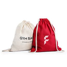 Basic cotton gym bags