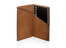 Business card case, folded, brown