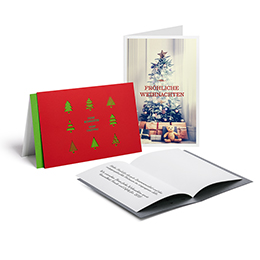 Christmas cards with a design, customised