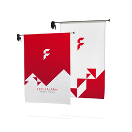 Window flag outdoor avec impression