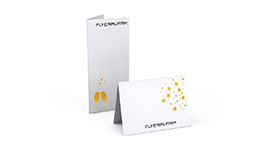 Greeting cards and invitations with pre-designed flat hot-foil